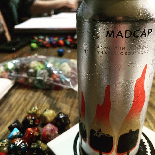 D&D and @freethoughtbeer is a pretty good combination #nerds #dungeonsanddegenerates #dungeonsanddragons #beer