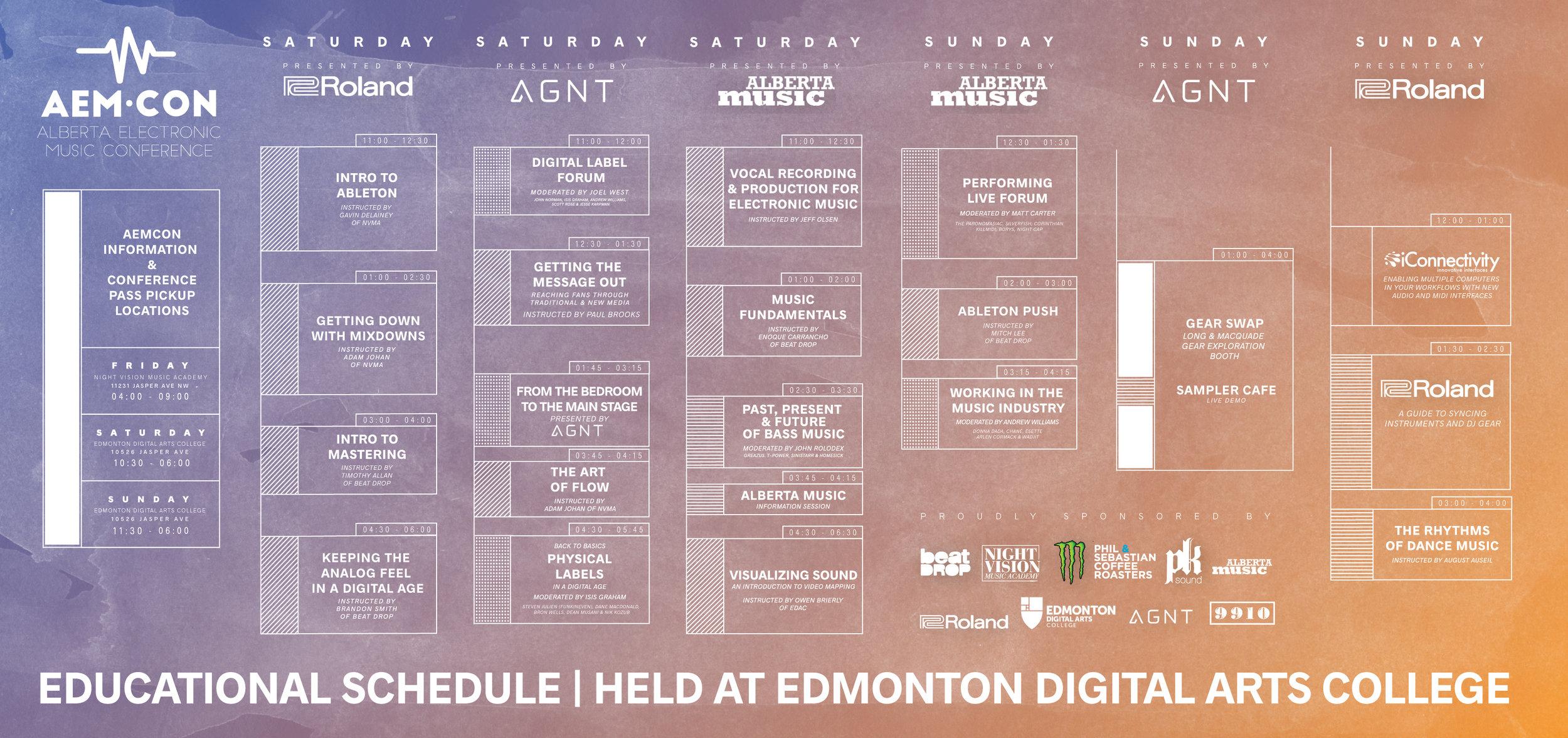 2016 Day Schedule