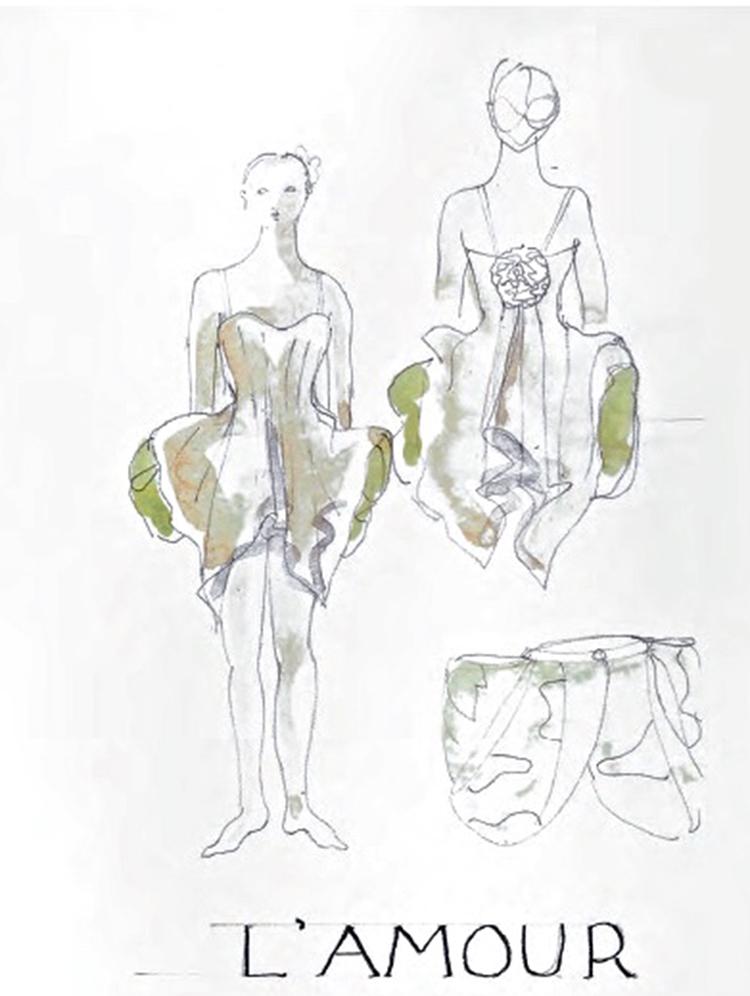 sketch for L'Amour - from catalog - Barokissimo/ Centre national du costume de scène