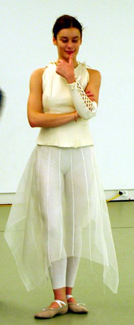 aurelie dupont at fitting in trisha brown's studio new York