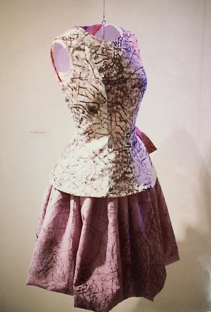 Cotton 2-piece dress from silk screen print by Joseph Nechvatel