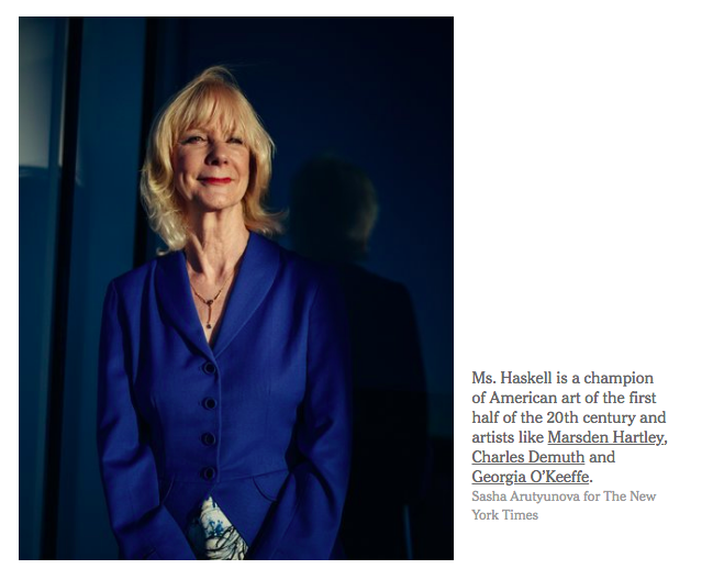 Barbara Haskell profiled in the   NYTimes