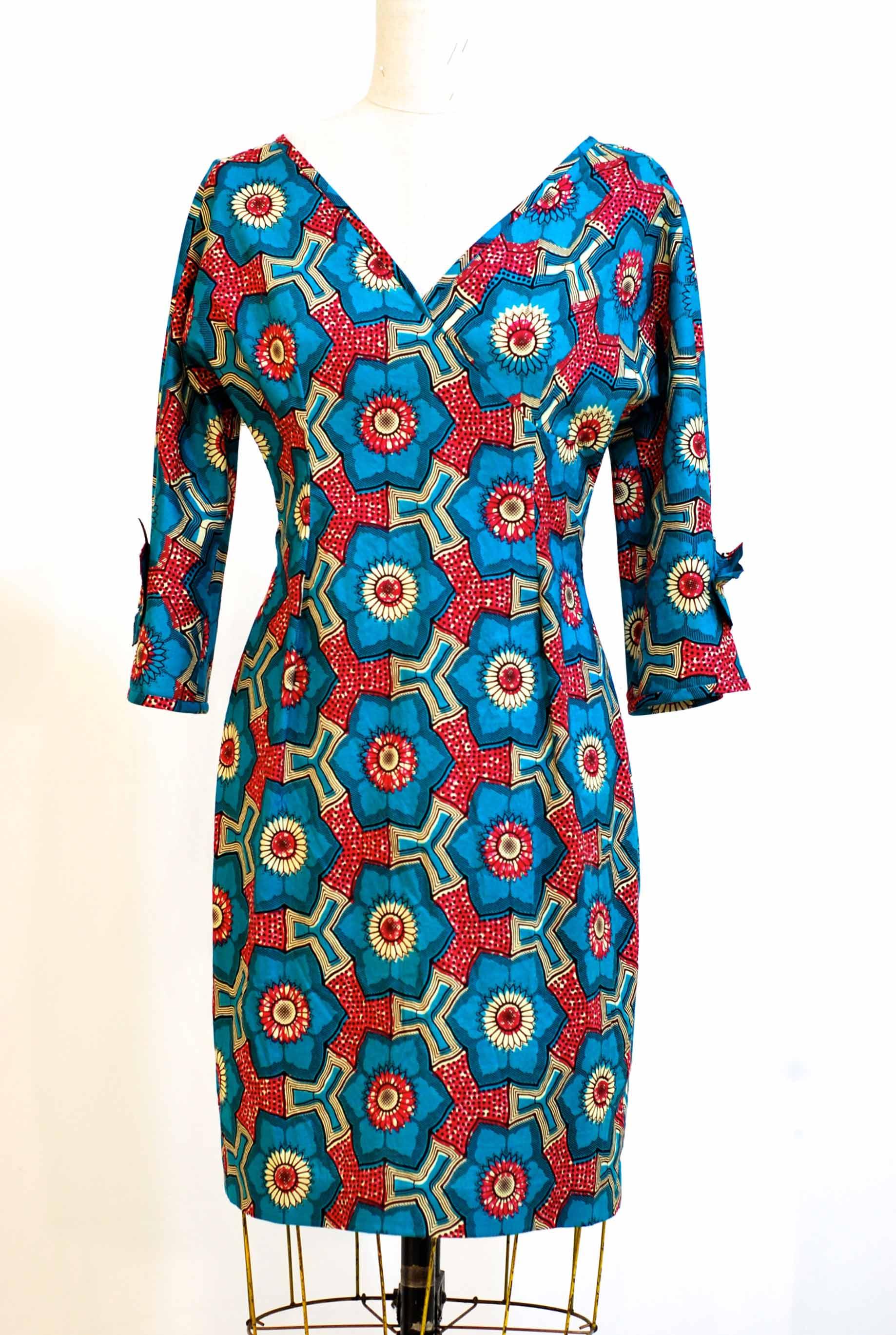 "Qipau Dress - size 8 - waist 28"" Bust 36"" Hip 38"" was $475. now $300  100% cotton - machine washable"