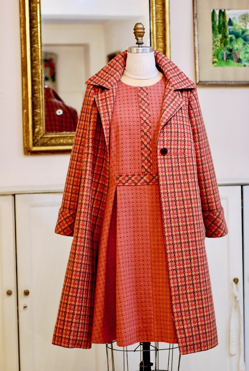 Japanese Cotton double-sided dress and coat for client