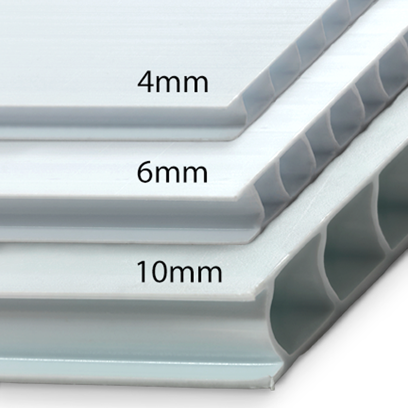 Corrugated plastic - Another tough option using White IntePro® Plastic Substrate