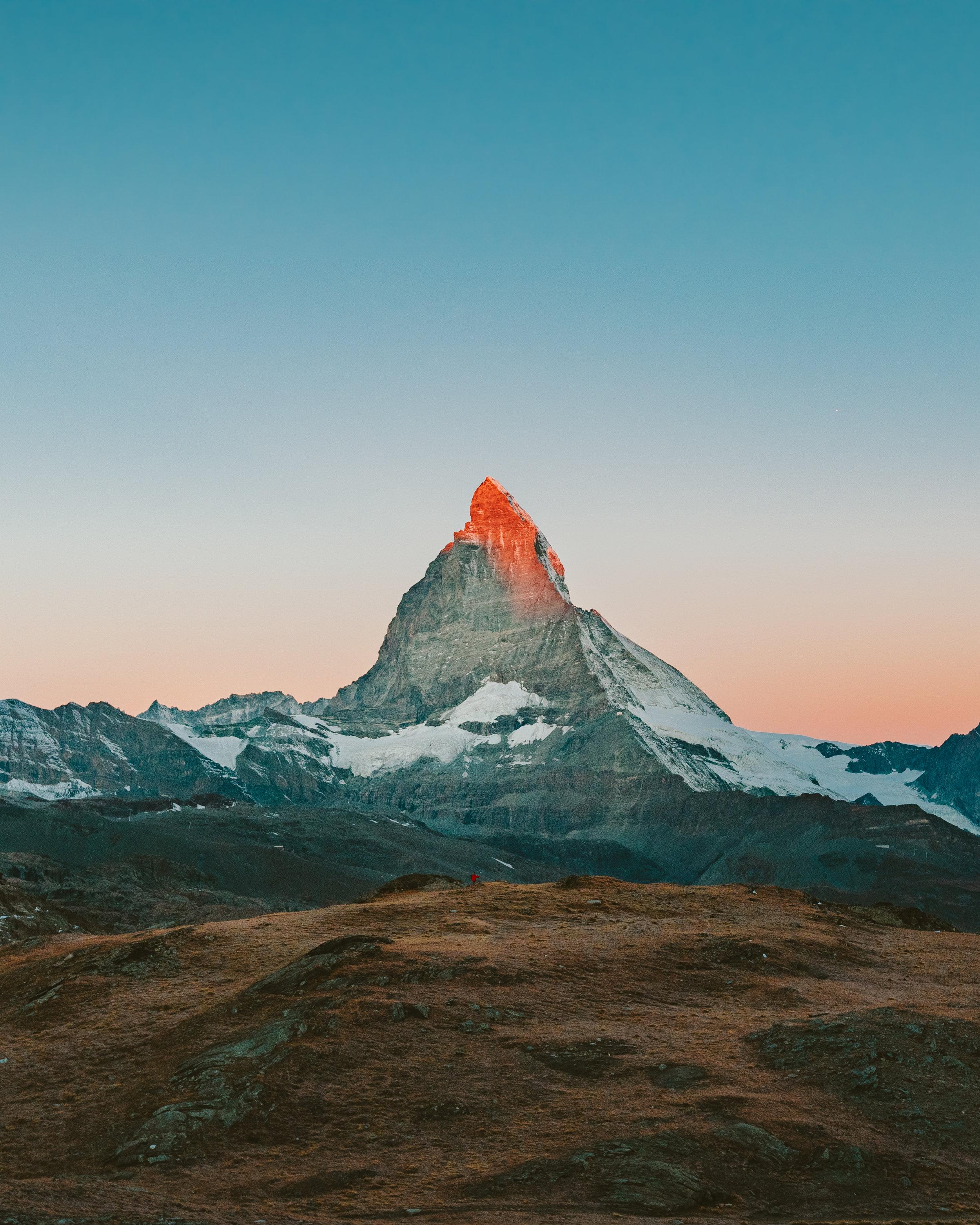 Matterhorn during sunrise in Zermatt, Switzerland.