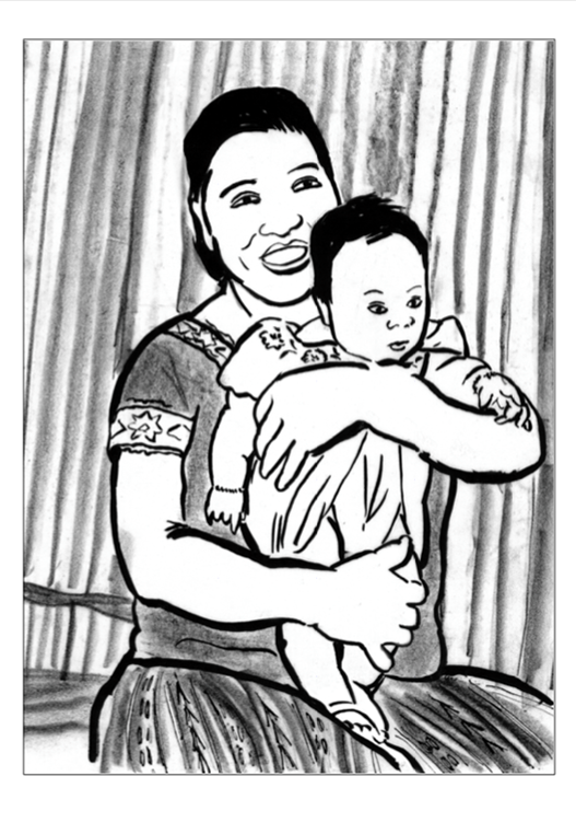 Card 3 MayaRefugee with Daughter