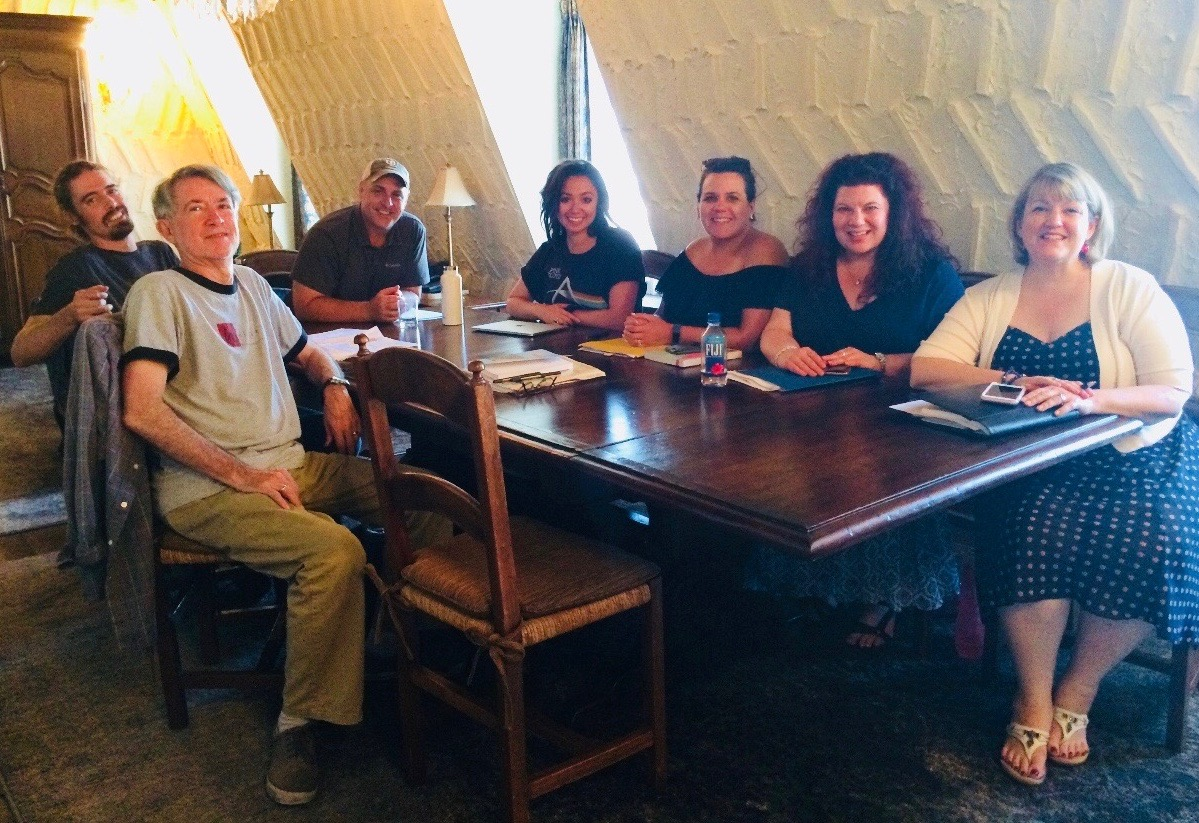 Pictured:SLWP Director Richard Louth, Co-Directors Tracy Cunningham and Michelle Russo, Marathon Leaders Kimberly and Marley Stuart, Susan Martens Director of Prairie Lands WP, and Jack Bedell, Editor of Louisiana Literature and Louisiana Poet Laureate.