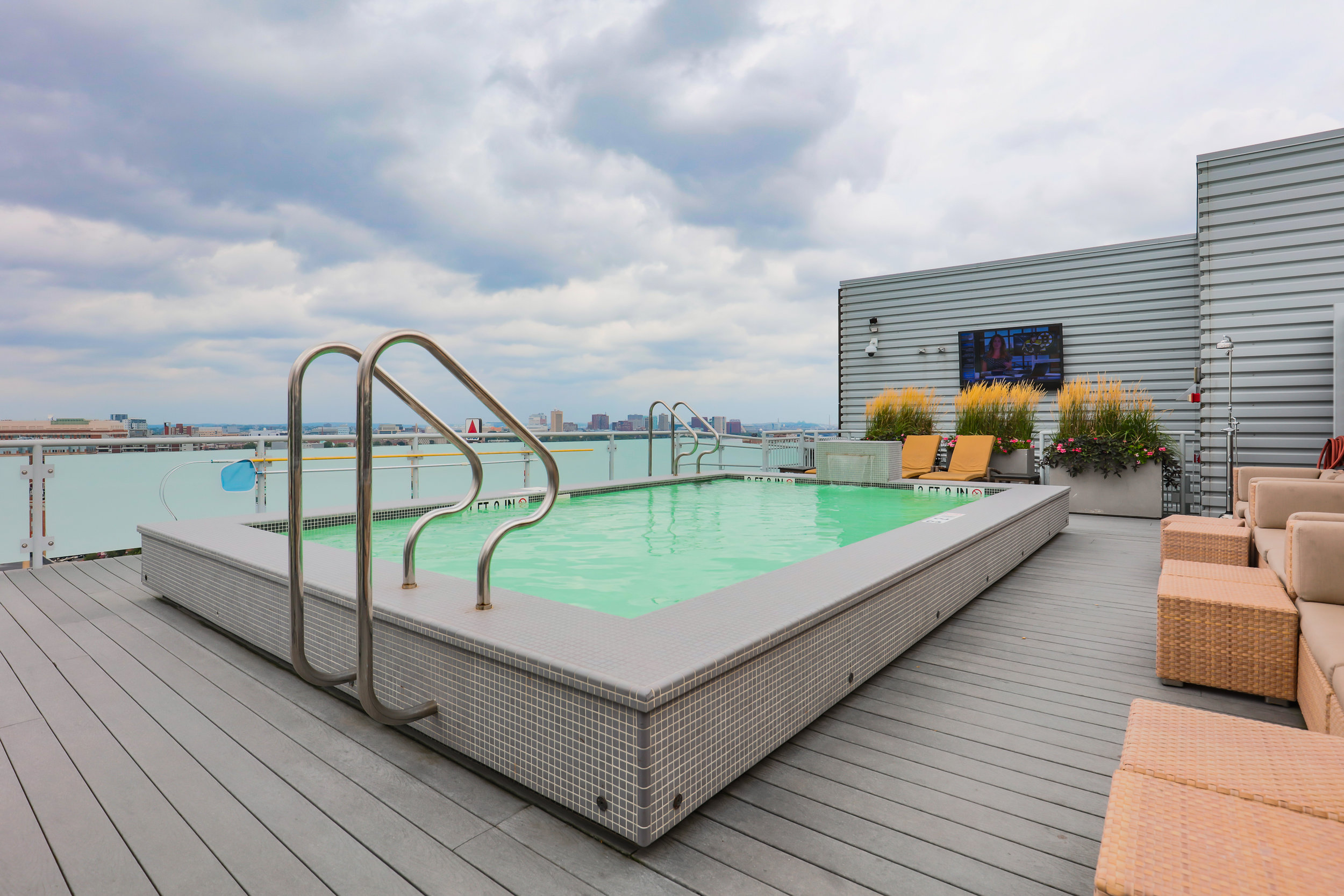 While this may not be one of my favorite photos, it's definitely one of the best spaces I have seen recently. Yes, the rooftop pool overlooks Fenway Park. If you squint, you can even see the Citgo sign.