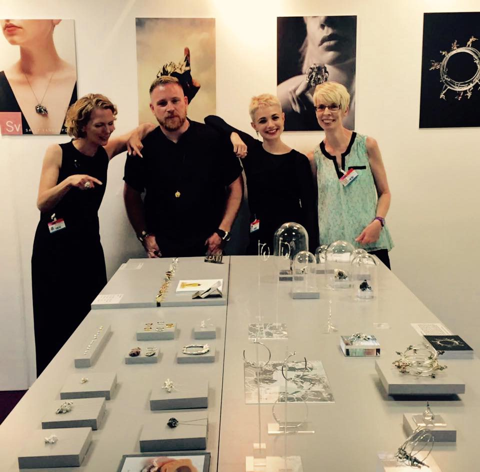 Vannetta Seecharran School of Jewellery Design graduates stand New Designers 2016