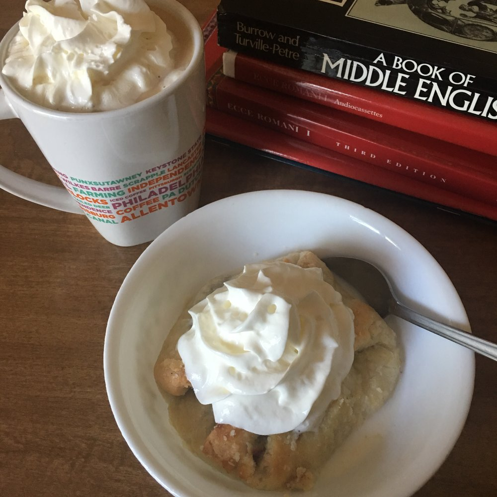 You can't go wrong with some whipped cream.