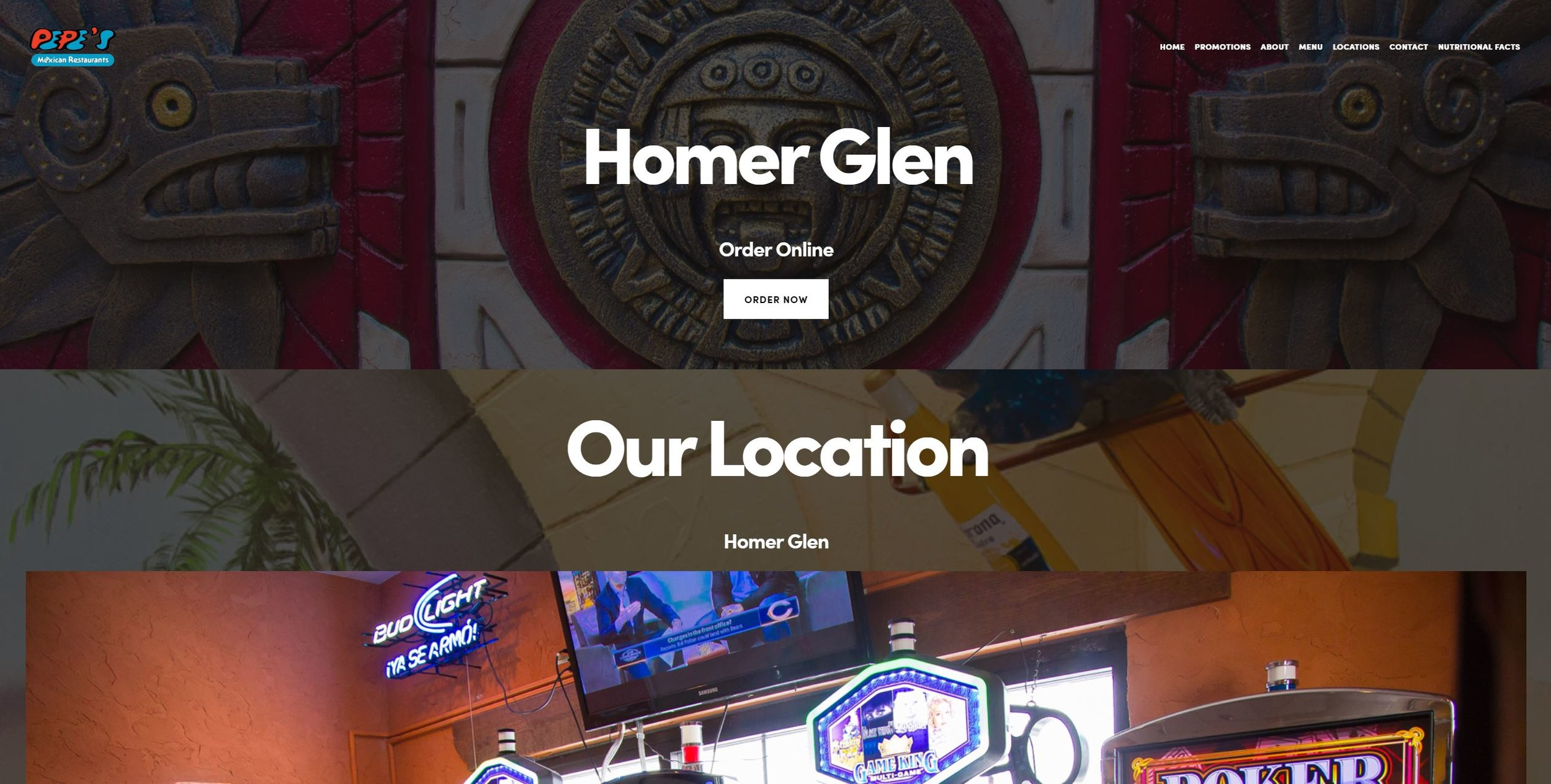 Pepes home page Homer Glen.JPG
