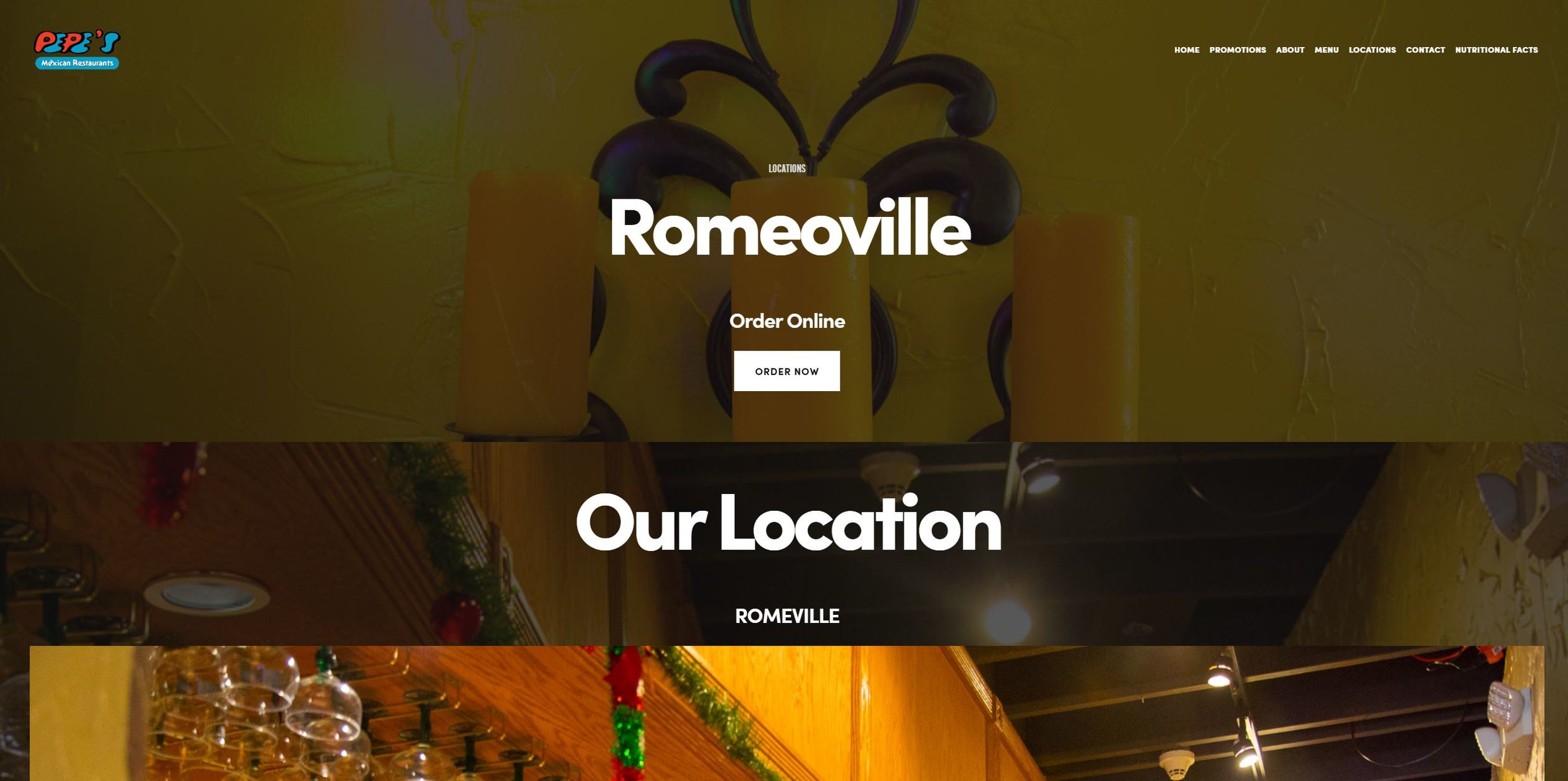 Pepes home page Romeoville.JPG