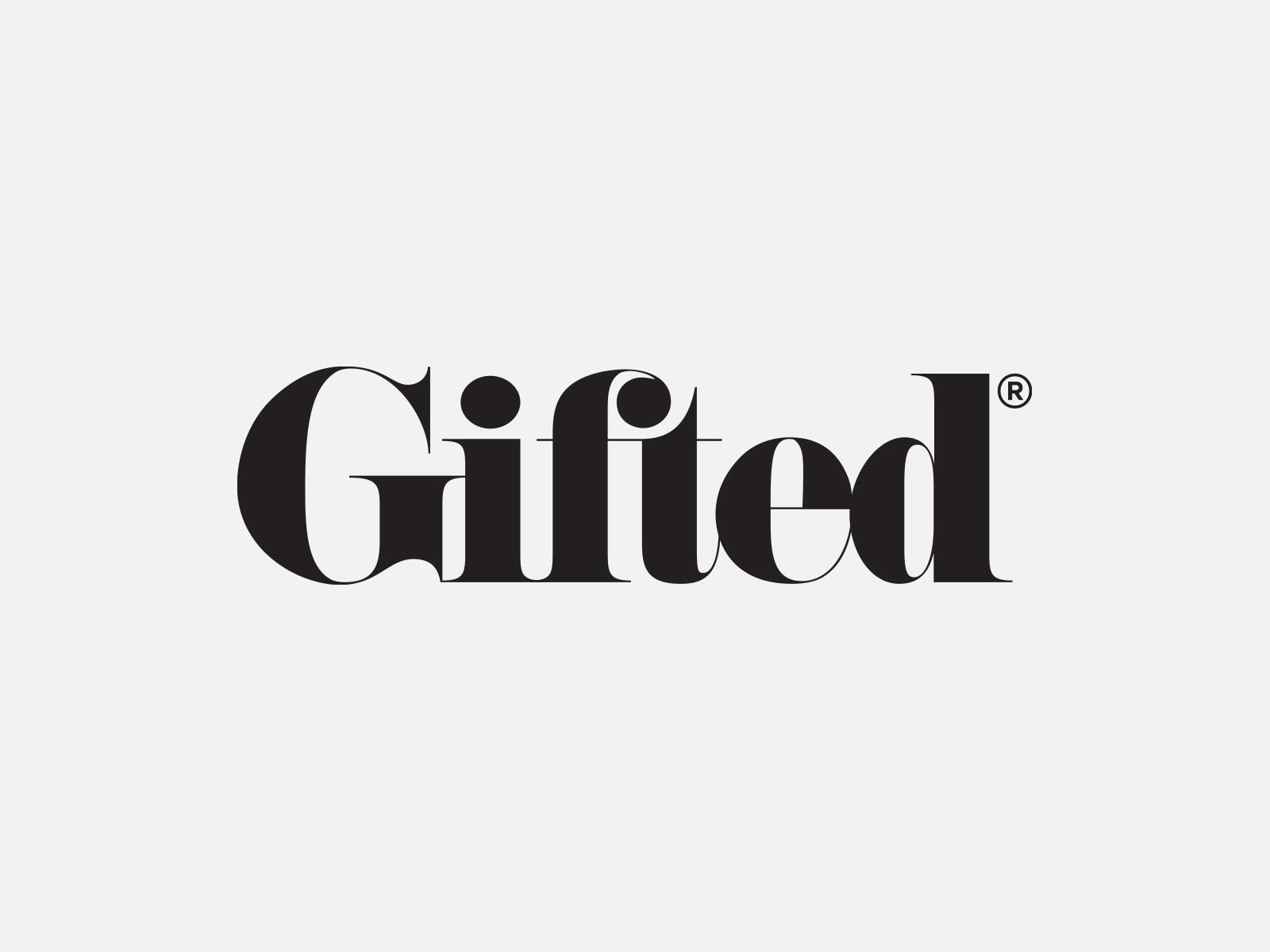 Gifted logo, by Leo Burnett Design, Toronto