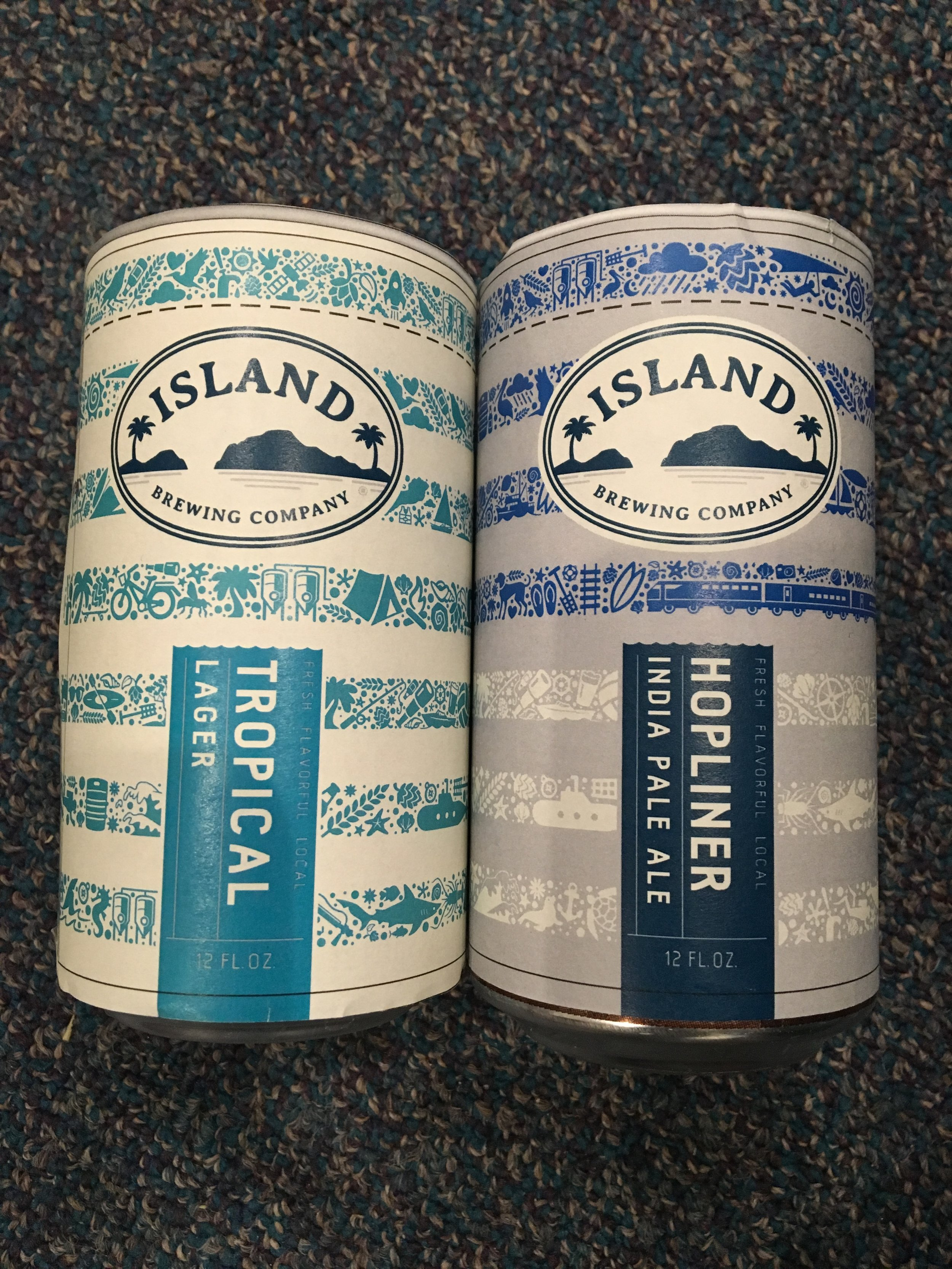 tropical lager and hopliner cans.JPG