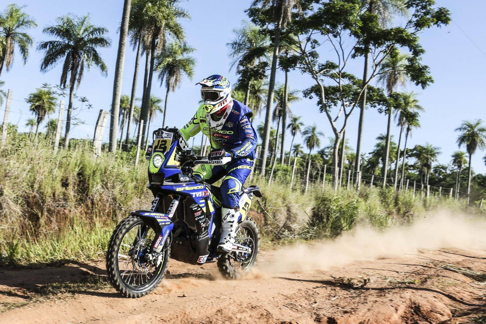 Joan Pedrero (Sherco TVS Factory Rally Team) has a magnificent start to the Dakar by winning the first stage between Asuncion and Resistancia