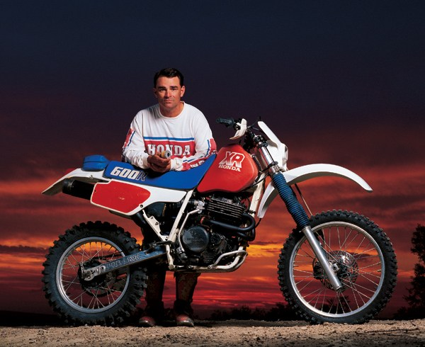 10. Tie-Bruce Ogilvie/Larry Bergquist: - Bruce-O was as tough a competitor as the sport has ever seen and synonymous with Honda's Baja racing program.No one worked harder than Bruce or paid more attention to the details. Starting from his early days with Harley Davidson Bruce grew up through the ranks winning a D-37 Heavyweight #1 plate in 1980, B to V and the Baja 1000 four times overall his last at age 51. Bruce also took home overalls at the Baja 500 and Parker 400 as well as amassing 11 overalls in D-37 competition. Bruce approached off road racing like life and death and it showed in his discipline, determination and work ethic. His impact on the sport his still felt today by anyone that has ever thrown a leg over an XR of CR450X Honda motorcycle.