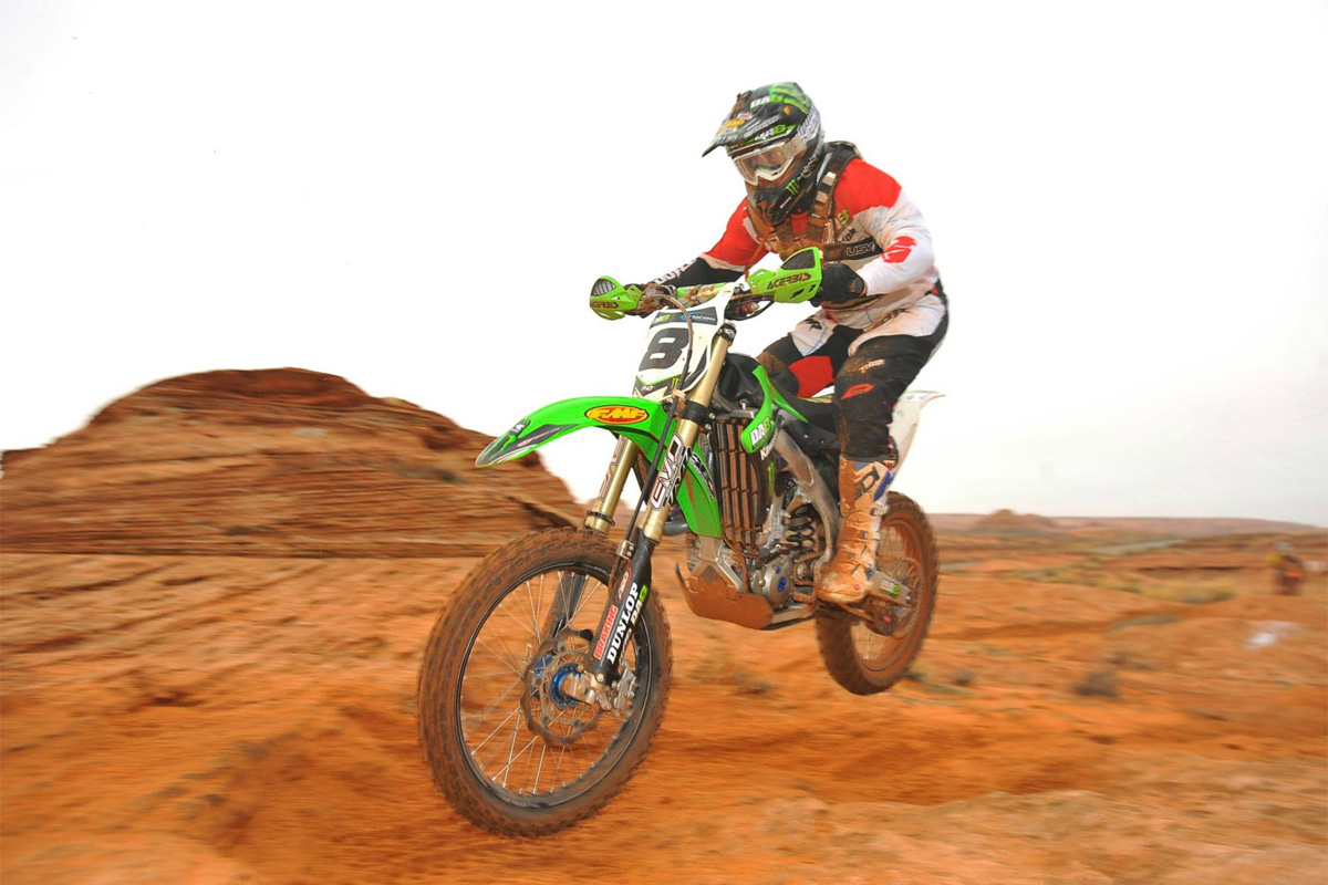 7.Destry Abbott - Destry won (5) AMA National H & H championships and was the dominant rider in the desert during the first decade of the 21st century. Destry also accumulated several BITD overalls along the way. The only thing missing from Destry's resume is an overall in Baja but that can't hold him back from being in my top 10. Destry worked hard at his craft and trained harder than anyone else from his era.Destry also successfully made the transition from two to four stroke.Destry's pure love for the sport and the desert racing community made him a fan favorite and hero to a generation of desert racers.