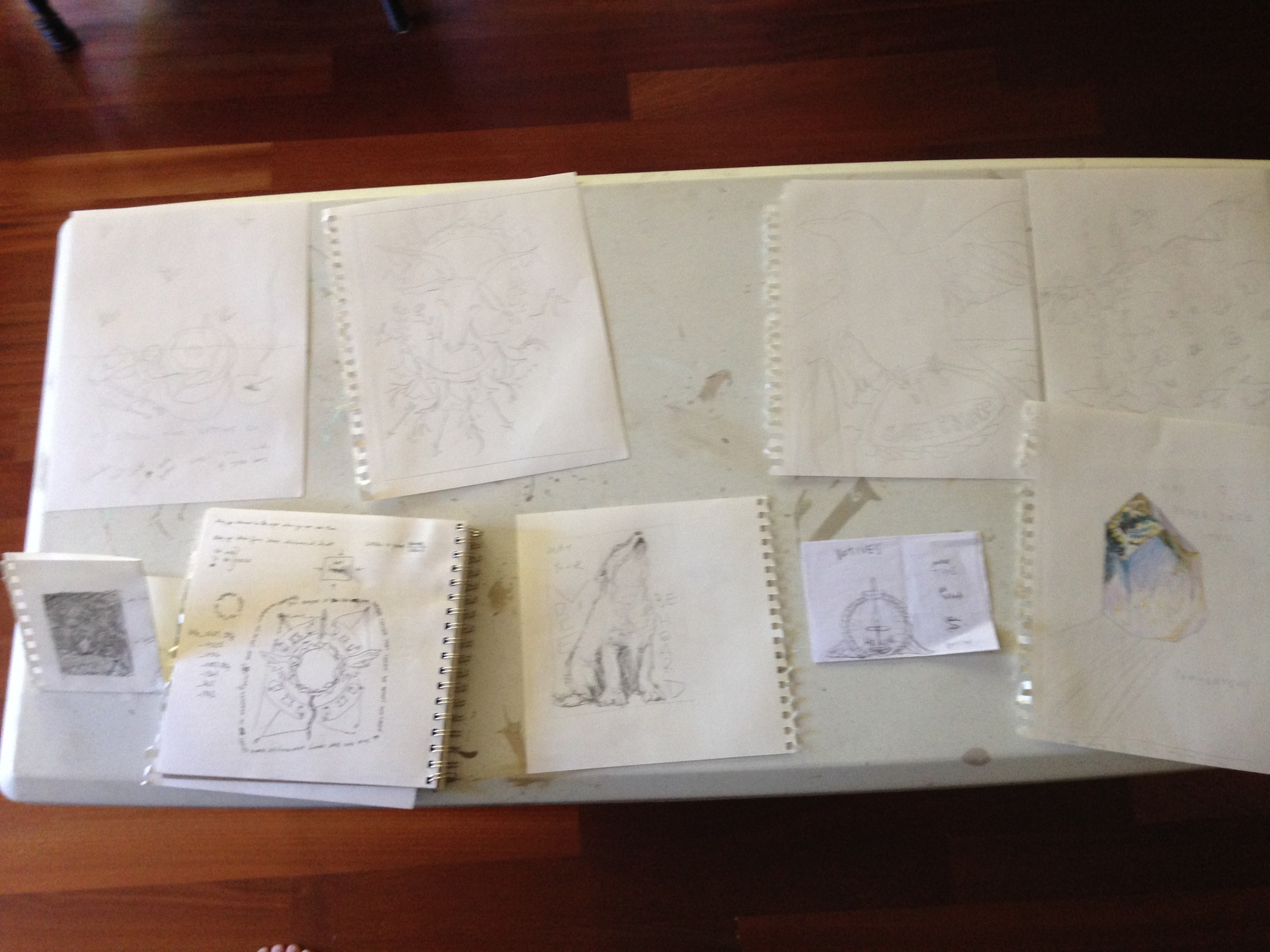 sharing our initial sketches with each other