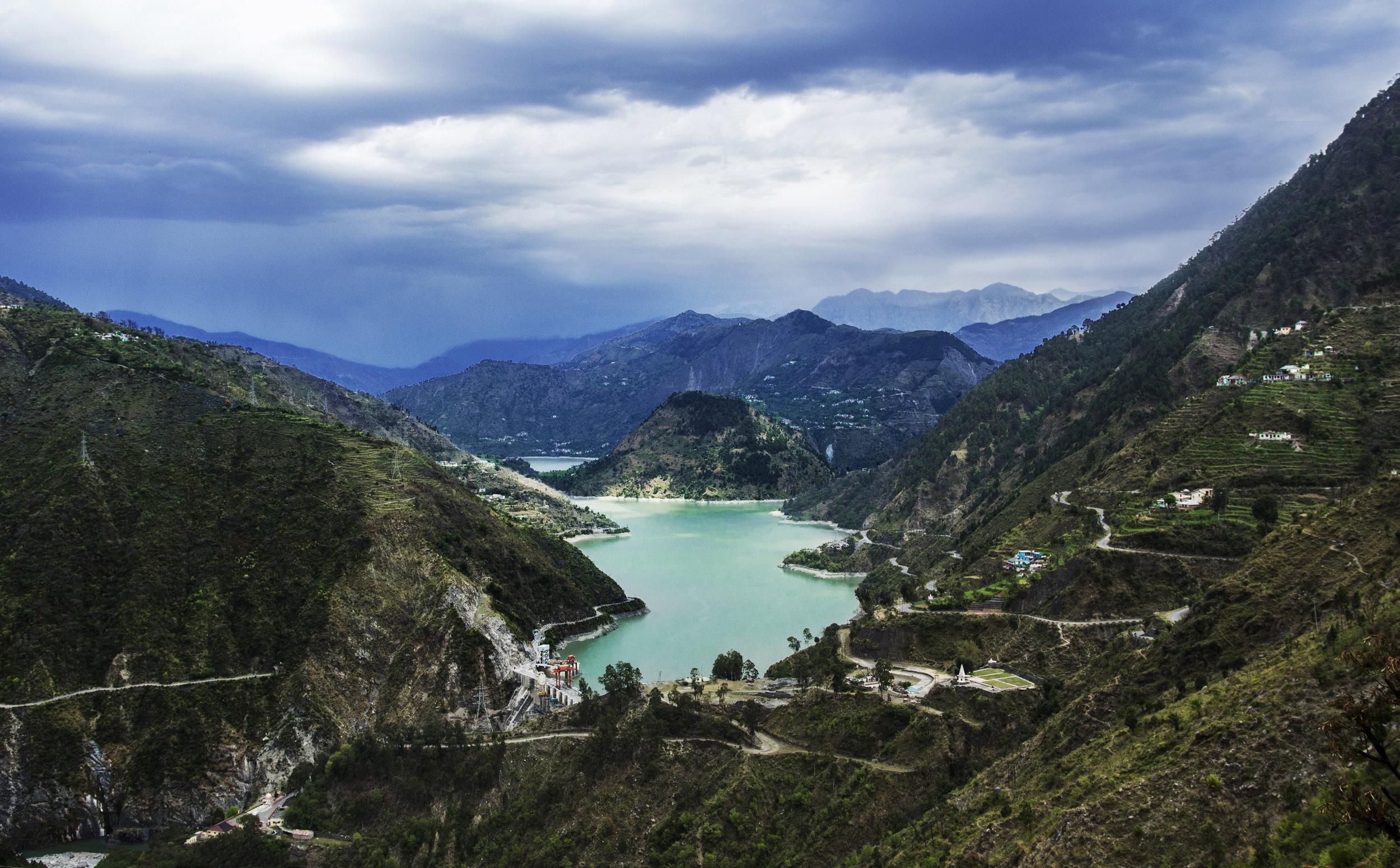 chamera reservoir himachal pradesh india