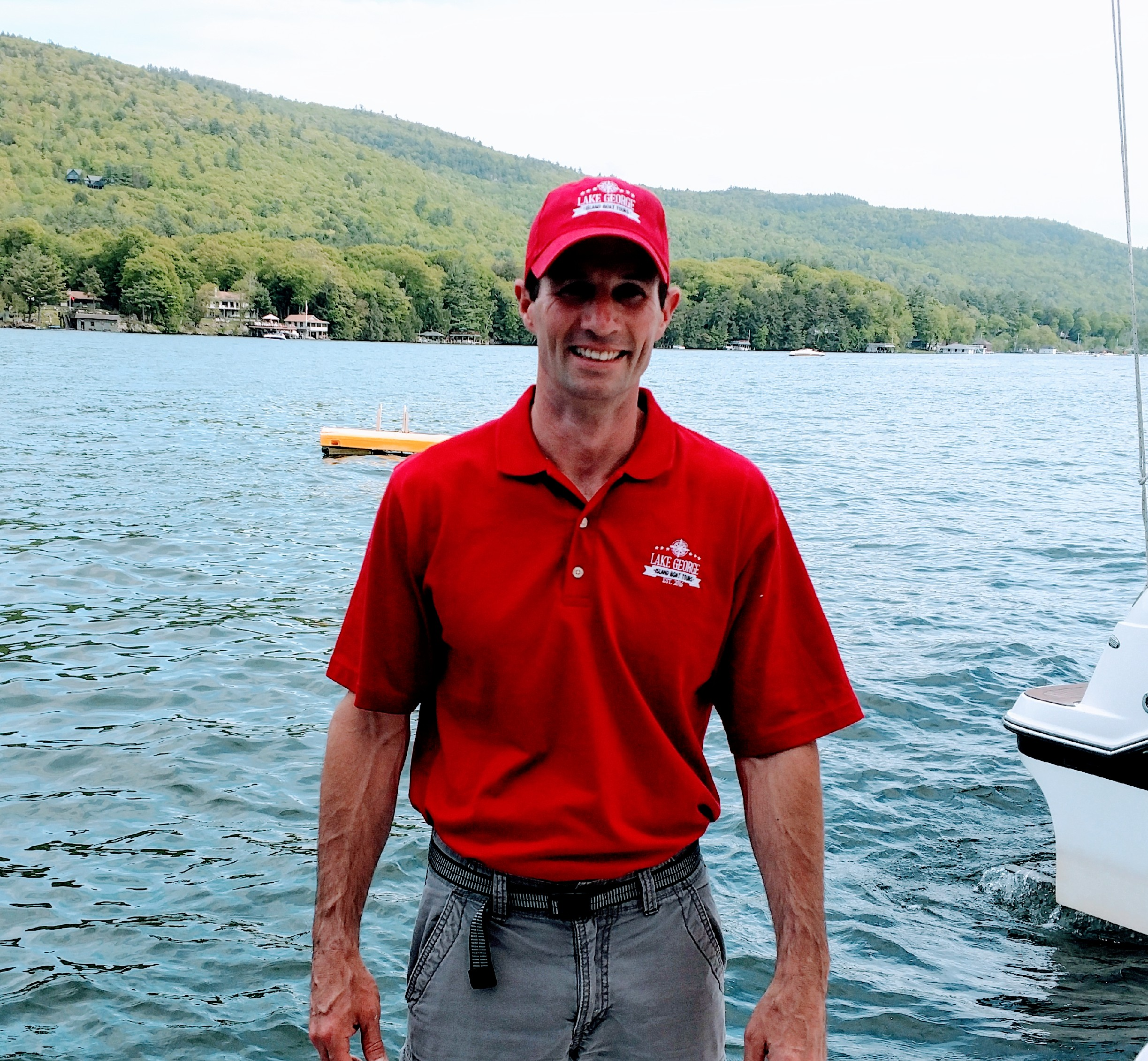 Scott - Scott is a teacher in Saratoga Springs who has been spending his summers on Lake George for over 30 years. In addition to his love of the history and folklore of the area, Scott also enjoys all types of adventure that the lake has to offer. To this day, he partakes in swimming,cliff jumping, wakeboarding, tubing, snorkeling, kayaking and hiking in the area. All of that is balanced, of course, by also relaxing at some of the quieter coves and lesser travelled bays that the lake has to offer. Scott tells us that his favorite part about Lake George is all the wonderful family memories that have been made here over the years – memories he is now making with his own children. He looks forward to helping you make some lasting memories during your time with him on the lake.