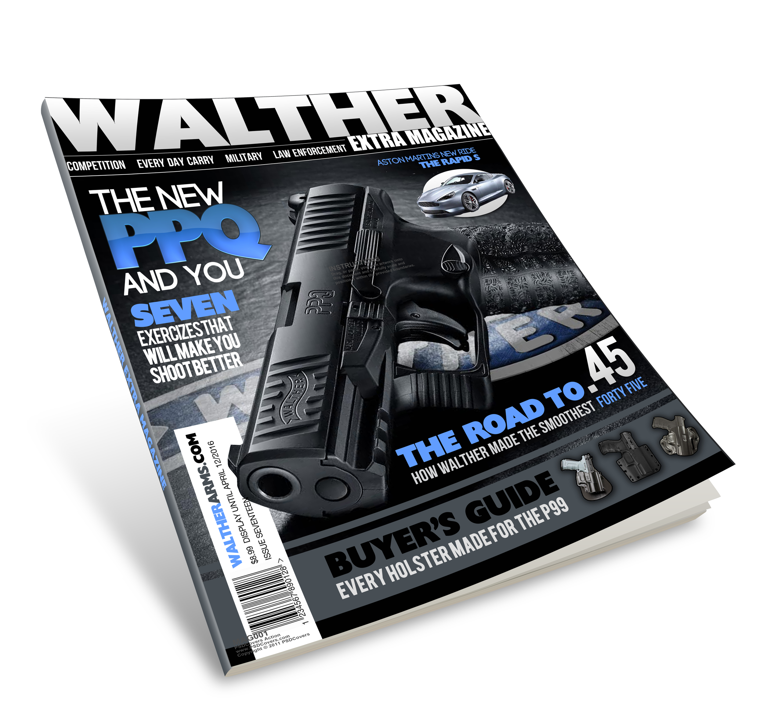 Trade Mock-up for Walther Arms