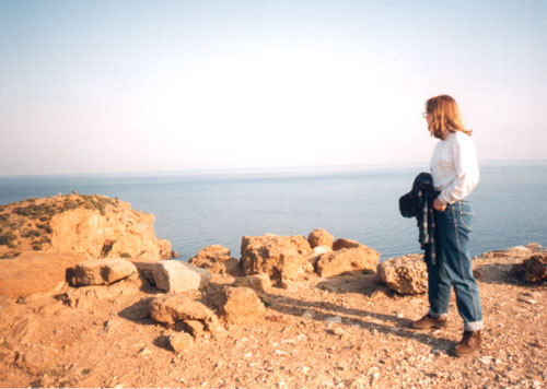My mom took this photo of me on a school trip to Greece. A brief moment of connection between us that was to be one of few to remain. She posed me deliberately for this image, just as she had when I was a little girl.