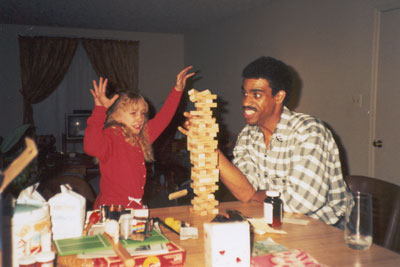 A beautiful moment of ridiculousness, captured for eternity. This is how Dad and I rolled.