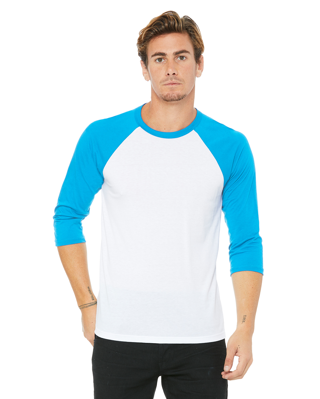White/Neon Blue