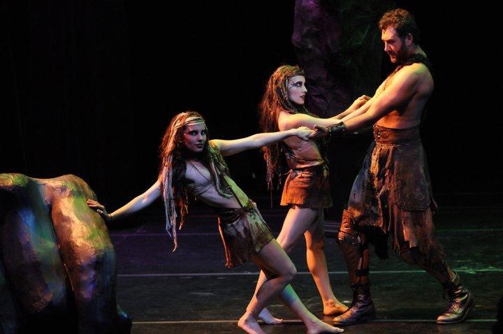 """Kris Angelis, Alix Angelis, and John Farmanesh-Bocca in """"Hercules Furens"""" (2011)"""