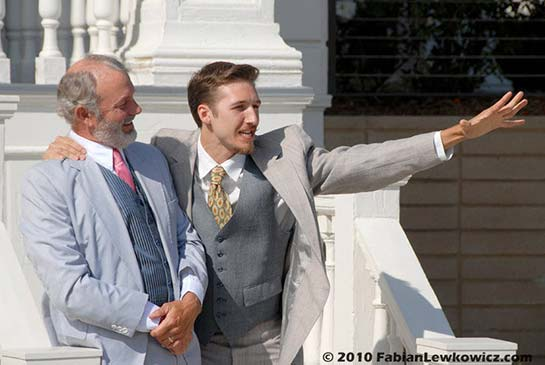 """Tim Halligan and Vincent Cardinale in """"The Merchant of Venice"""" (2010)"""