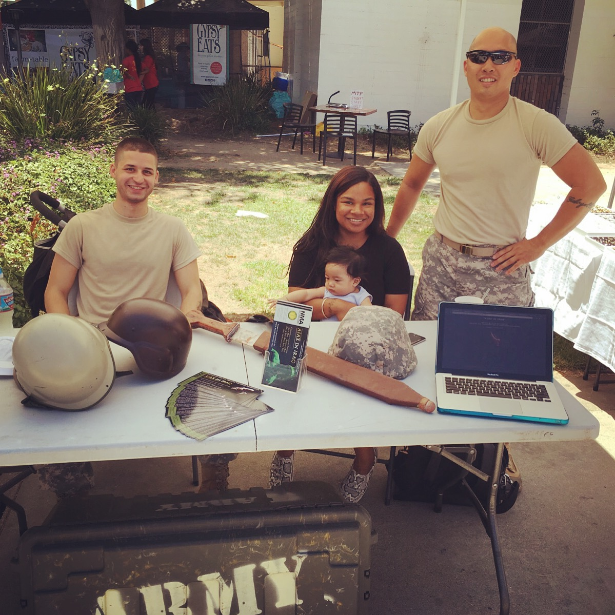 """The cast of """"Ajax"""" at the Melrose Trading Post"""