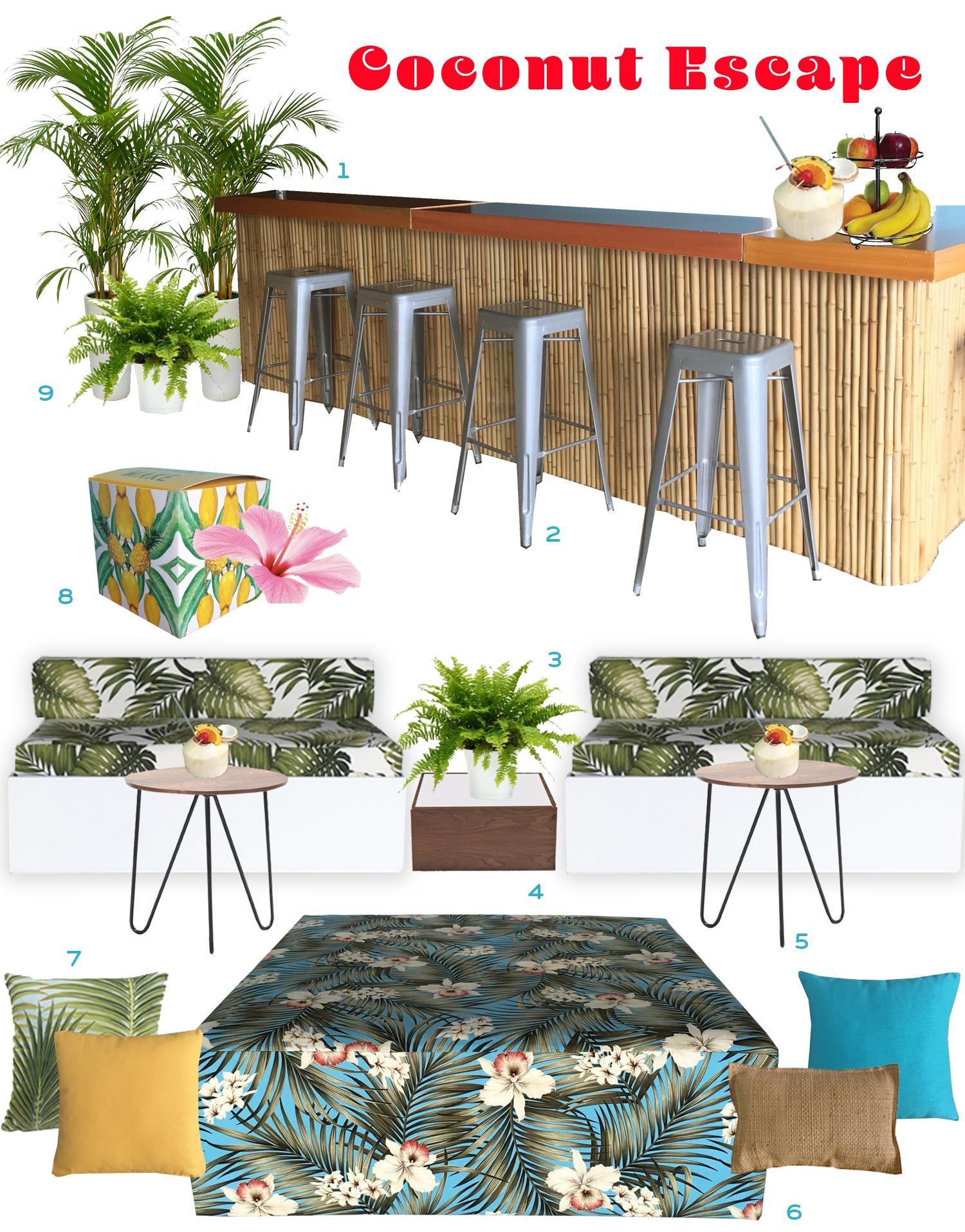Ronen Rental - Coconut escape - Rent the look furniture