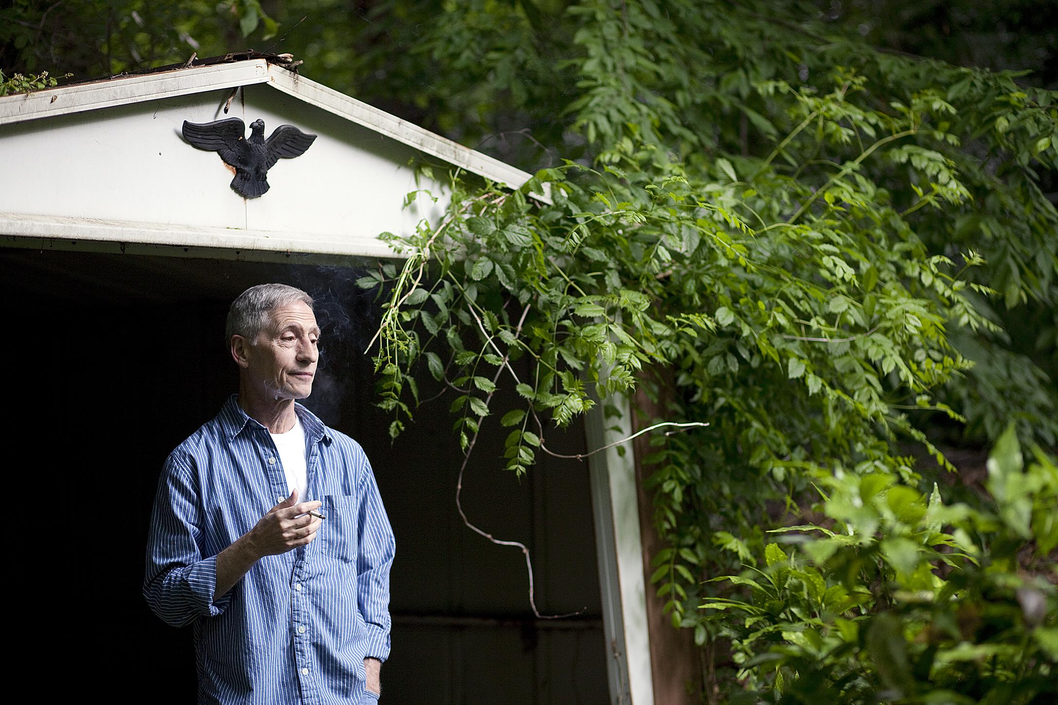 John in his Gardening Shed, 2010