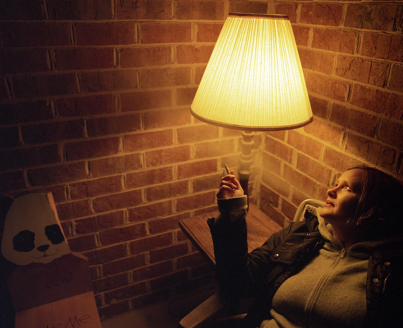 Julie on her Back Deck, 2007