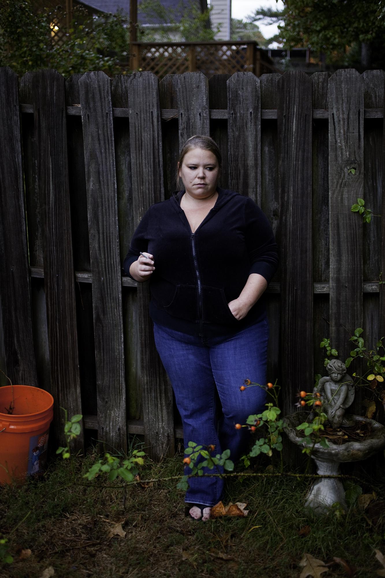 Lindsay in her Mom's Backyard, 2009