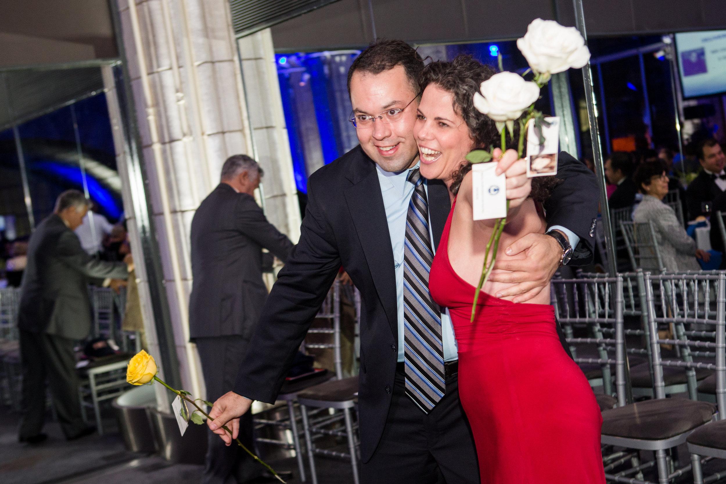 With Airam da Silva, President of the Icla da Silva at the 2014 Hope Gala in New York City.