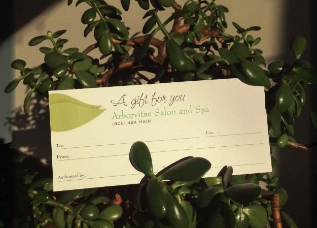Arborvitae Salon & Spa Gift Certificate