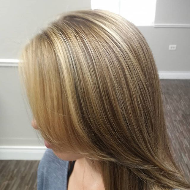 Beautiful work by Kristi on these super, thick tresses #salon101rocks #hilights #morevibrance