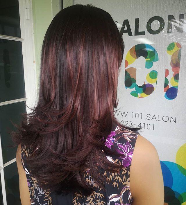 Rich, beautiful, multitonal dark violet hair #salon101rocks #richviolethair #shinyhair