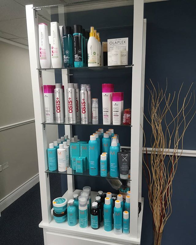 Stocked retail and coffee bar for your convenience #salon101rocks #moroccanoil #osis #matrixbiolage #butfirstcoffee