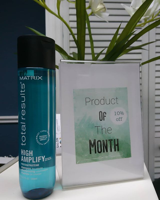 July Product of the month is Matrix High Amplify Shampoo, a lightweight silicone-free formula with protein, helps boost structure of fine, limp hair, for lasting volume. Hair is voluminous and full with lift that lasts.