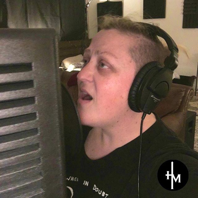 Andrea throwing down some vocals for our new album 😊. Just 3 more days until our next single too!! Soooo excited to share it with you all. ⠀ ⠀ #hemustincrease #spotify #itunes #newsingle #newmusic #christian #worshipmusic #faith