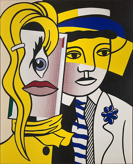 Stepping Out (1978)   Roy Lichtenstein (On view at The Met Fifth Avenue)