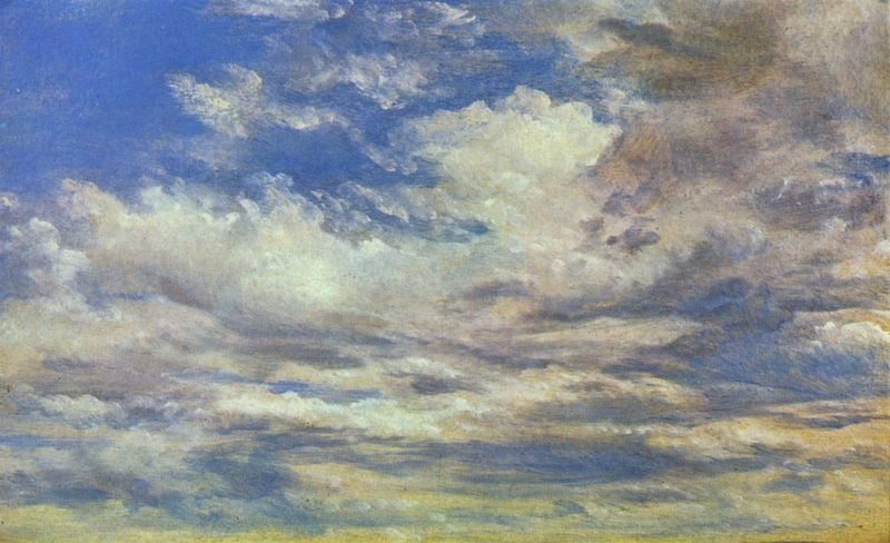 John Constable, Cloud Study, 1822, Oil paint on paper on board, support: 476 x 575 mm, © Tate, London 2013