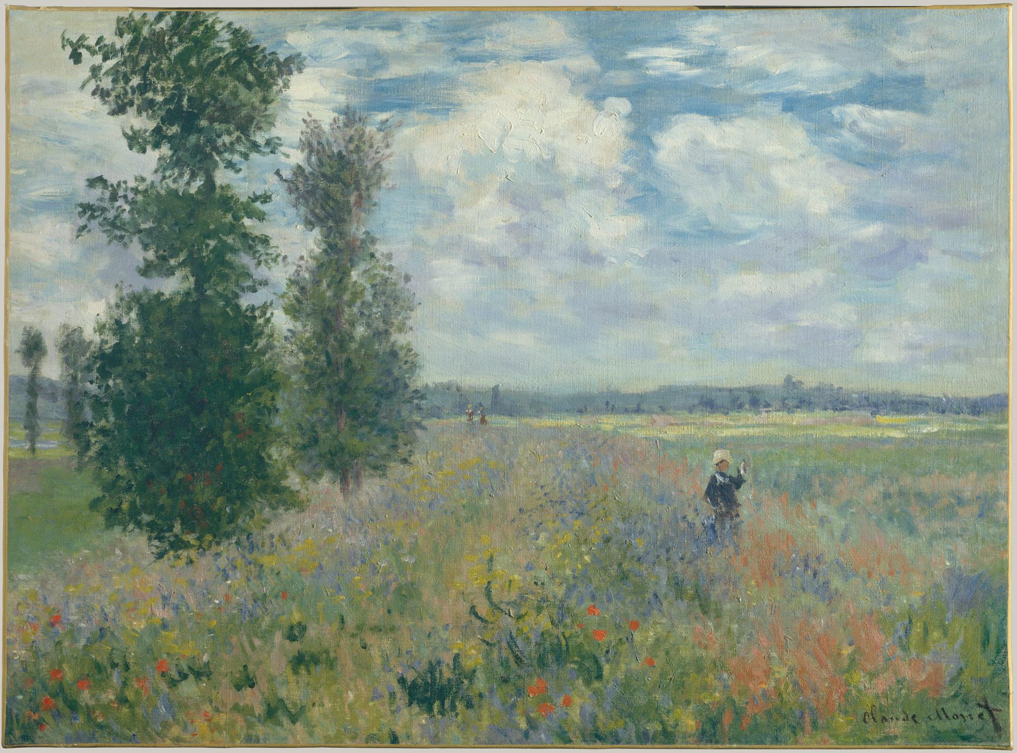 Claude Monet, Poppy Fields near Argenteui l, 1875 @ The MET