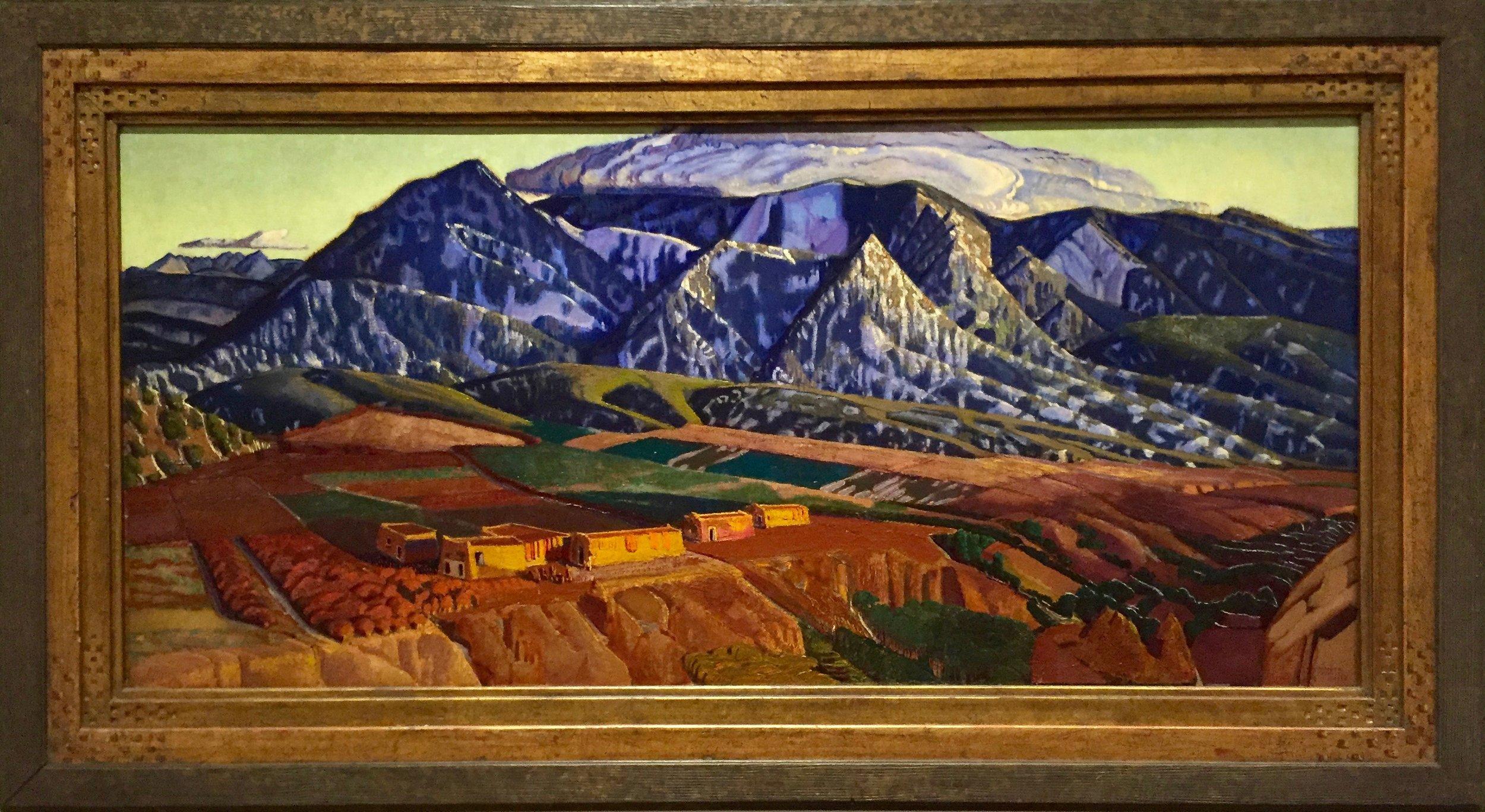 Ernest Blumenschein, Mountains Near Taos ,1926–1934,Dallas Museum of Art, gift of Helen Blumenschein
