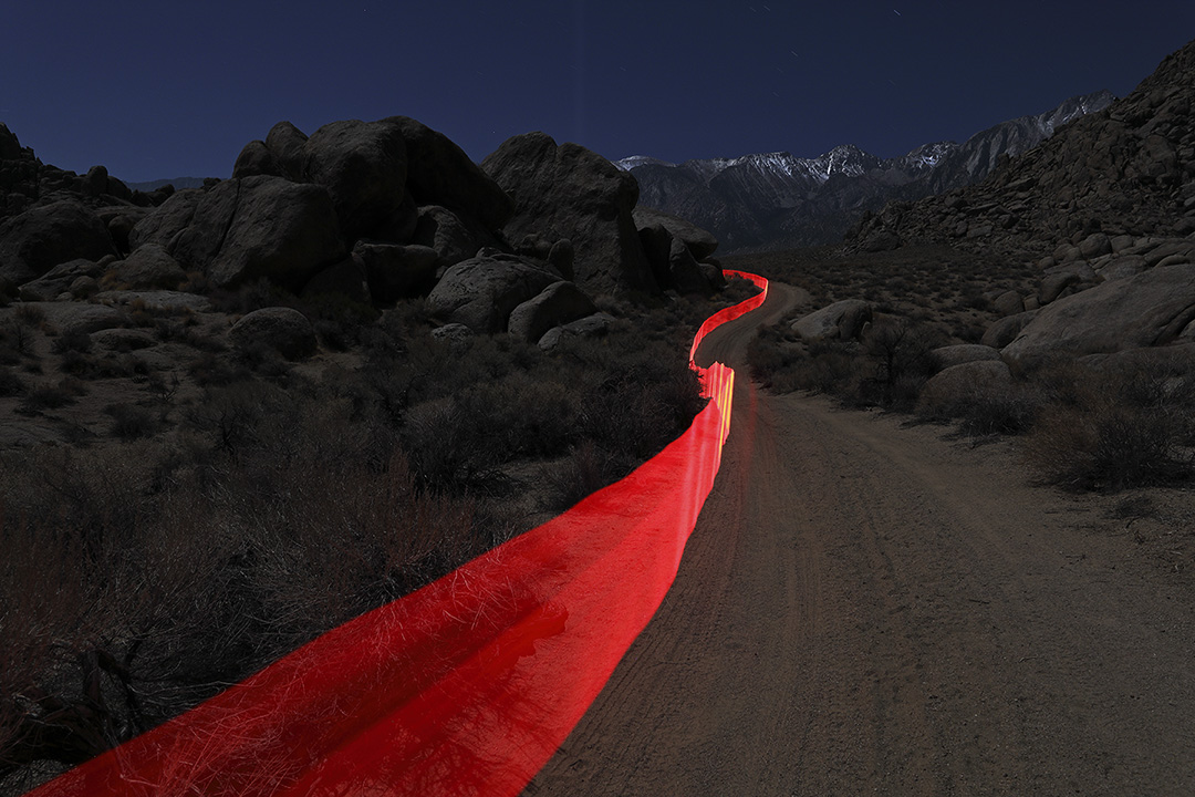 Thomas Wheeler, Red Fence Alabama Hills, 2016