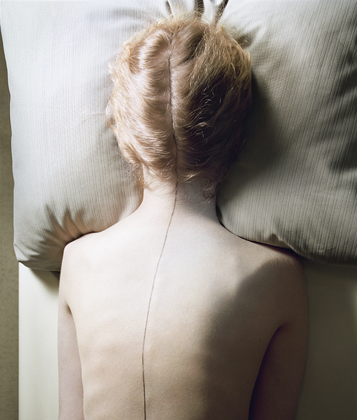 Jo Ann Callis, Woman with Black Line, 1976 Courtesy of ROSEGALLERY