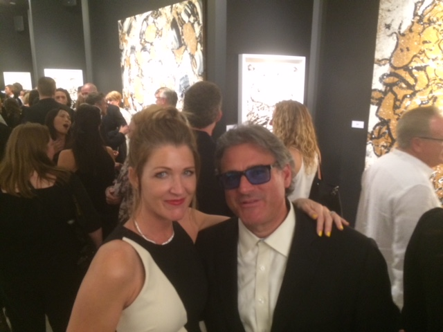 Daniel and Alyssa Crosby at Mouche Gallery (Beverly Hills, CA) art opening in 2017.